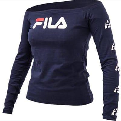 separation shoes 84f4e b5857 T shirt manica lunga donna Fila