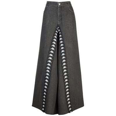 Pantalone Kappa 222 BANDA BASSIAL in jeans larghi