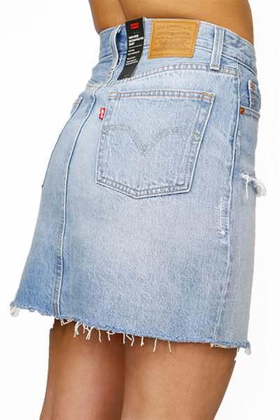 Levi's Gonna Vita Alta High-Rise Deconstructed Skirt