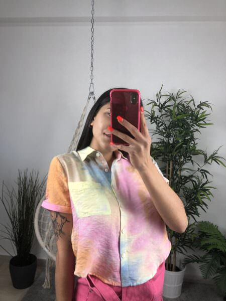 Camicia multicolor -ARCOBALENO