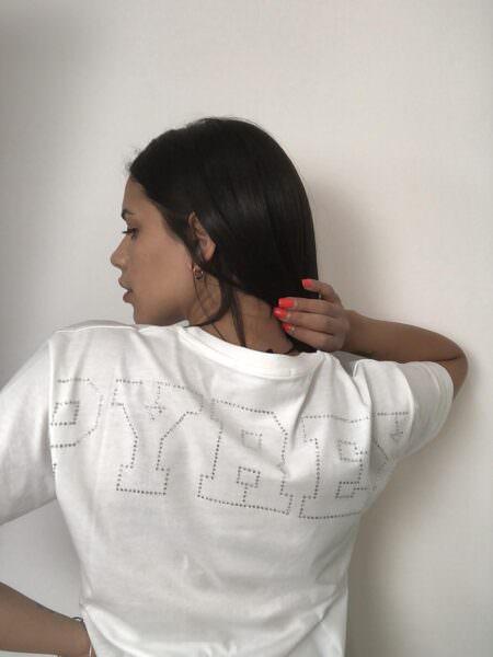 Pyrex T-shirt logo brillantini