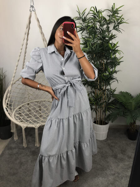 Camicia lunga a righe-ROSY