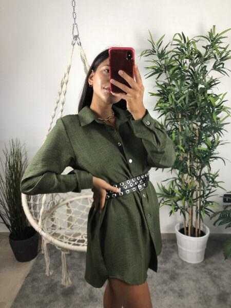 Camicia lunga a vestito - LINO