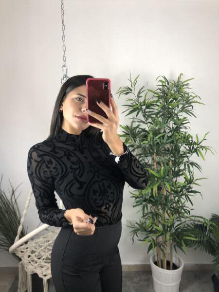 Body manica lunga trasparente - URY
