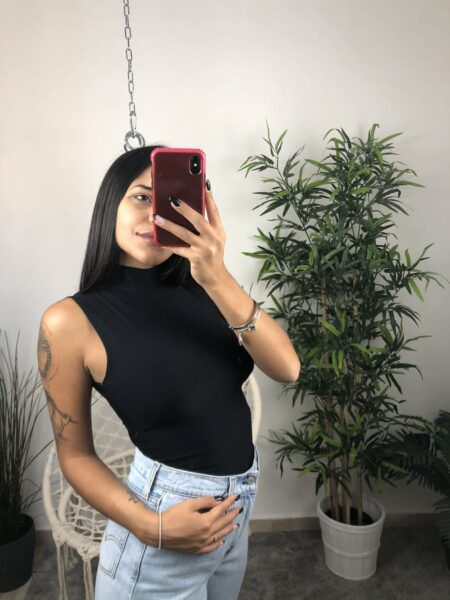 Body donna con colletto - MOL
