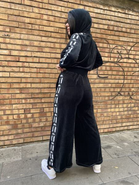 Kappa pantalone palazzo ciniglia Authentic la Dazar