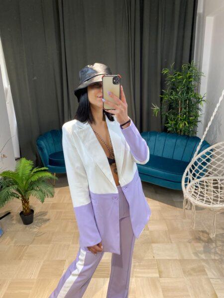 Completo giacca e pantalone bicolore