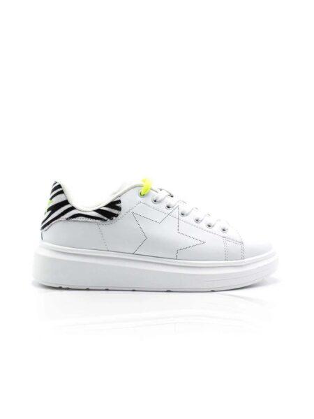 Shop Art Sneakers ecopelle Zebrata