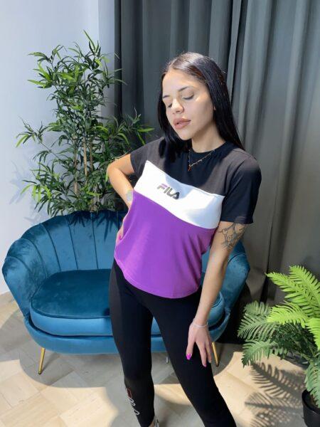 Fila T-shirt Blocked Anokia VIOLA-BIANCO-NERO