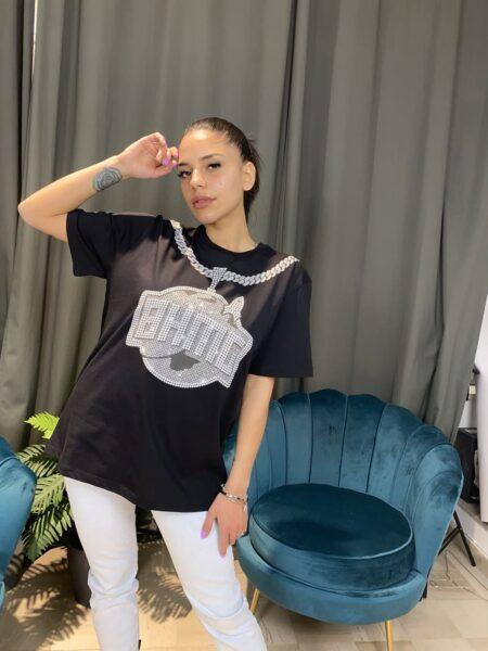 BHMG T-Shirt logo con collana Nera